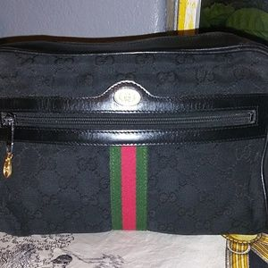 Authentic Vintage Black Gucci Crossbody Bag